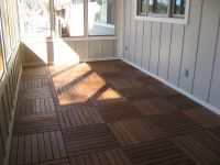 screen porch flooring ideas | Just for a minute, though ...
