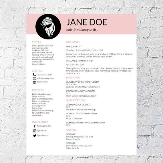 Hair Makeup Artist Resume Template Google Document resume - art resume template
