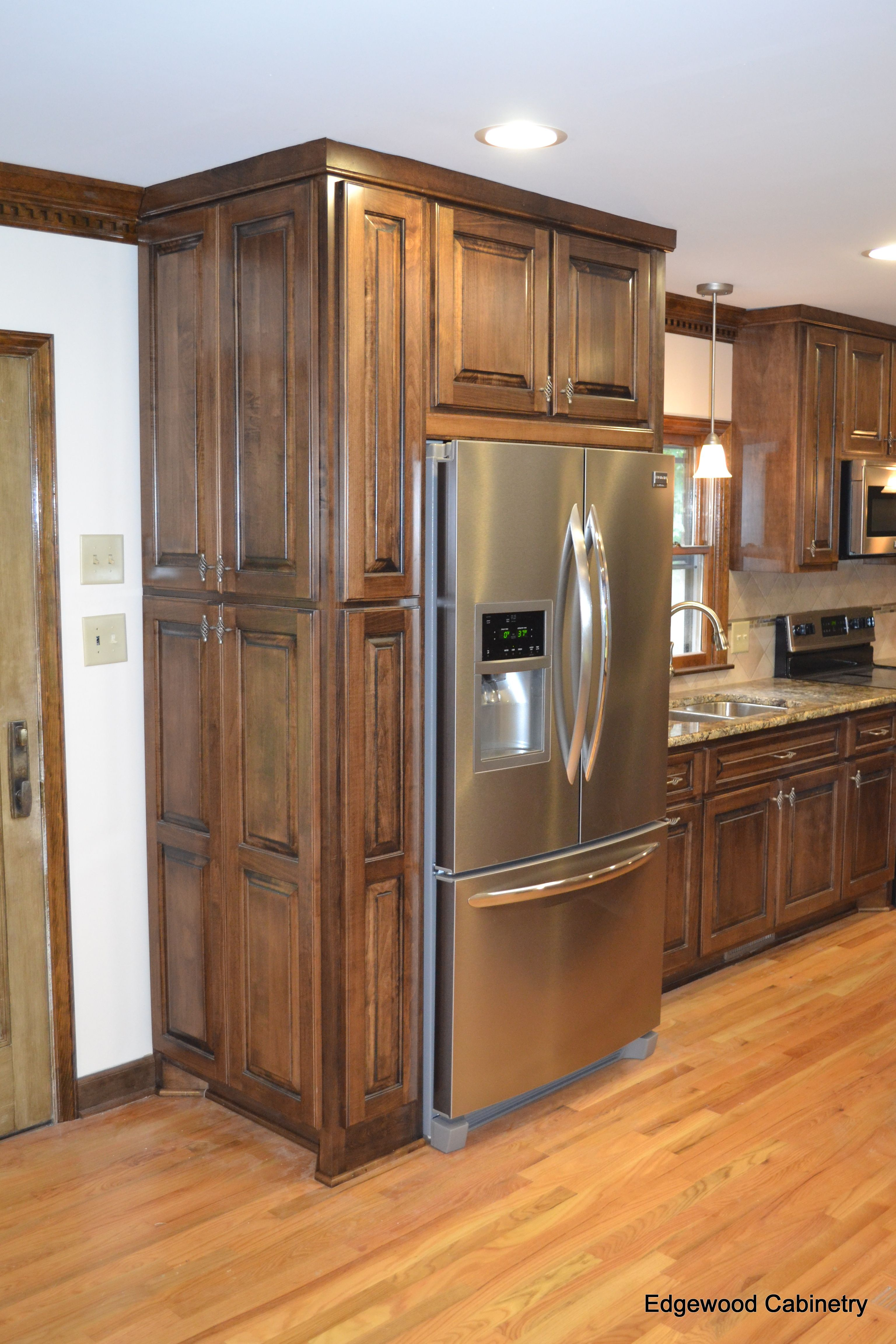 Update Kitchen Maple Cabinets Custom Maple Cabinets Finished In A Walnut Stain And Then