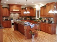 Rustic Kitchen Cabinets | ... fake wooden kitchen floor ...