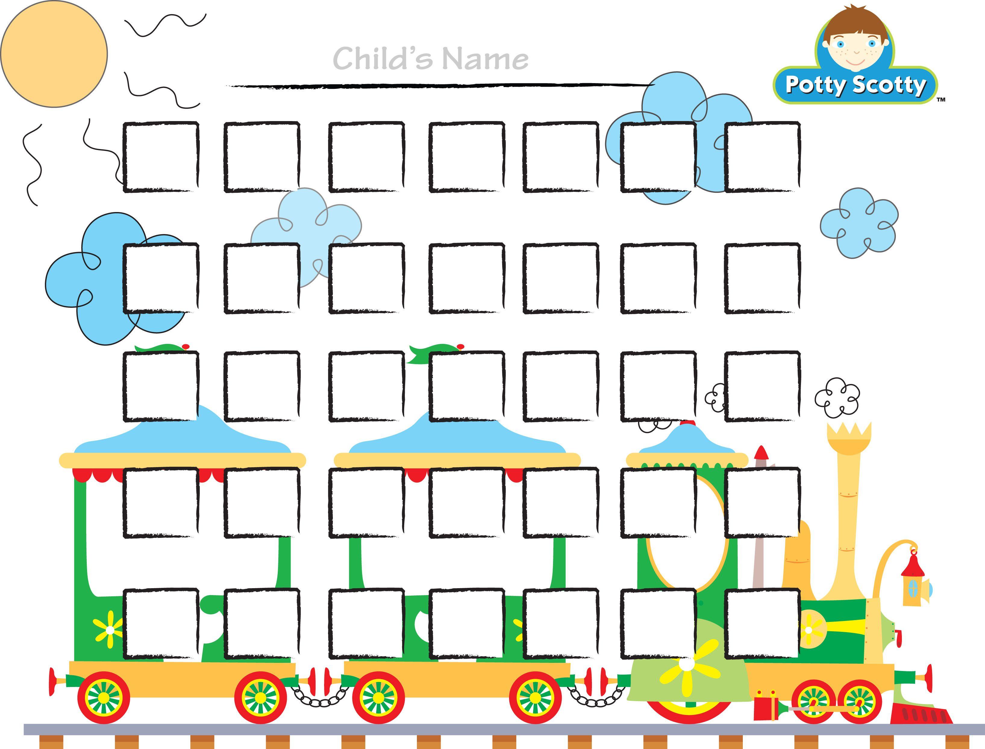 Reward Chart Template Kiddo Shelter