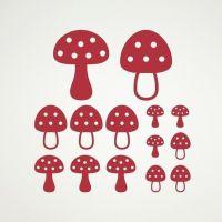 Mushroom Wall Decals Toadstool Woodland Baby Nursery Theme ...