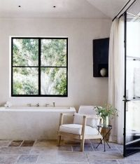 black window frame + natural tone seating | [ Home ...