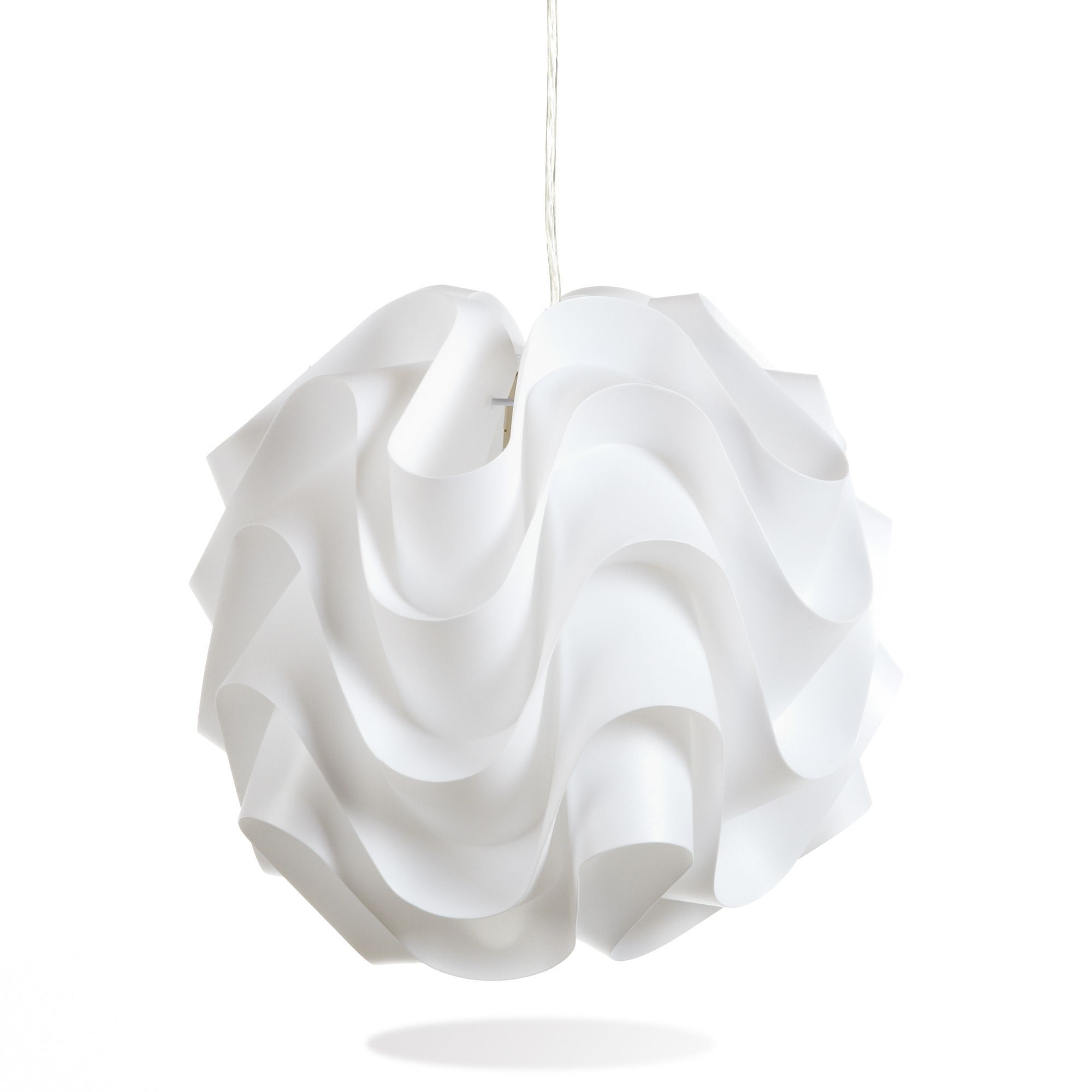 Alinéa St Etienne Suspension Blanche Happy Light With Lustre Alinea