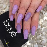 Laque Nail Bar Dope Purple Colour Nails Silver Glitter ...