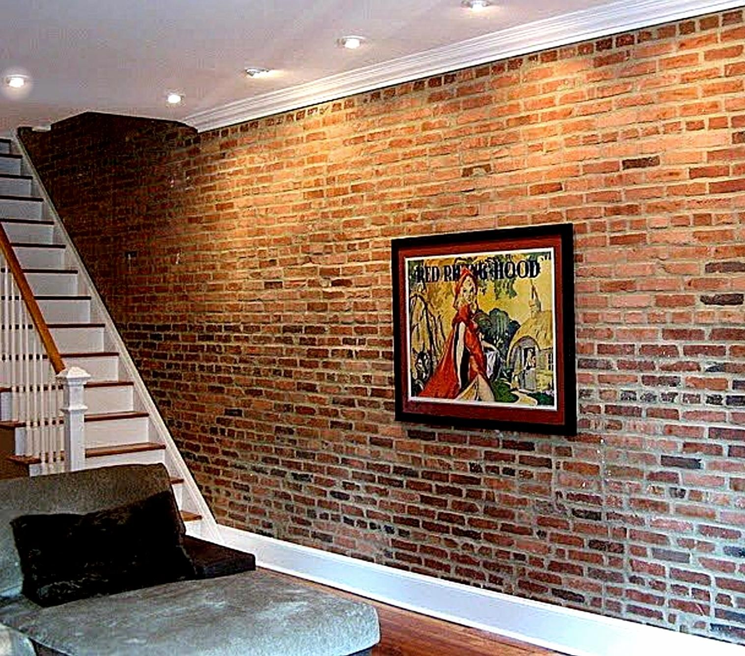 Brick Veneer Accent Wall 20 Clever And Cool Basement Wall Ideas Brick Wallpaper