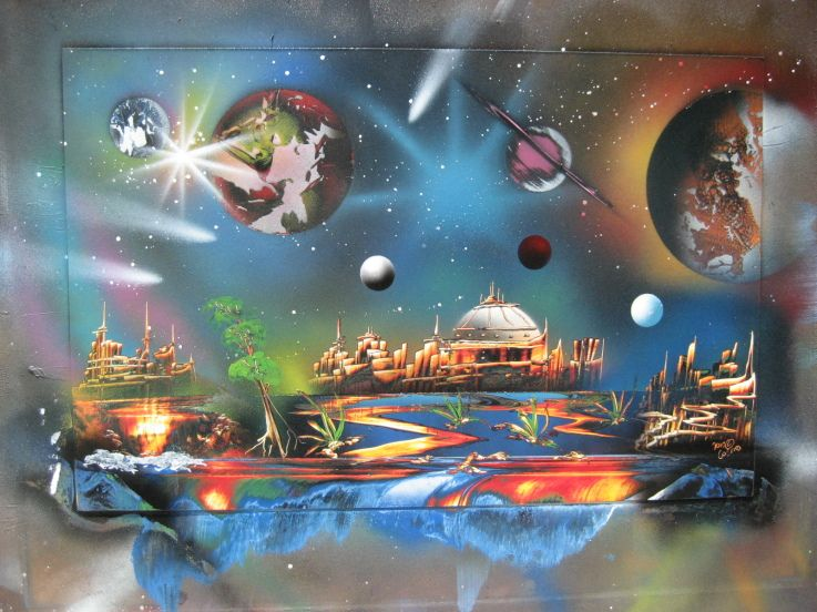 78+ Images About Spray Paint Art On Pinterest | Spiral Galaxy