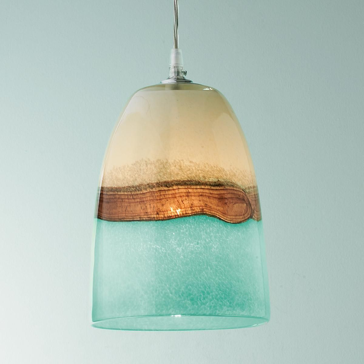 Light Pendants Strata Art Glass Pendant Light Cream Art Glass Pendants