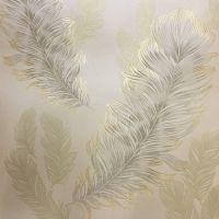Arthouse Sirius Wallpaper - Gold 673601 An elegant feather ...