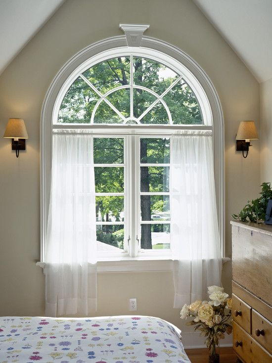 Wonderful Arch Window Treatments Ideas Wonderful Bedroom With - window treatment ideas for bedroom