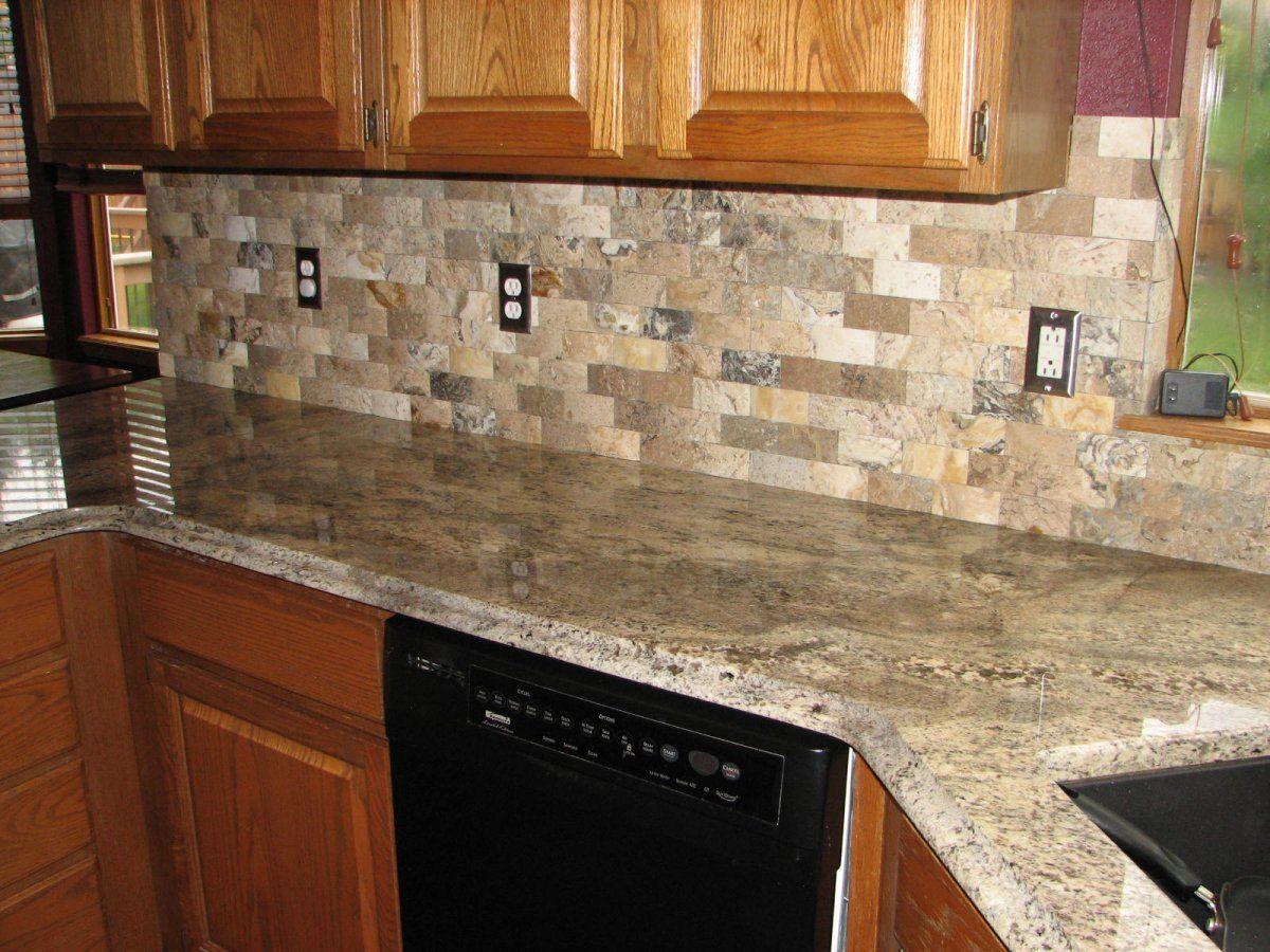 Grey elegant range philadelphia travertine mosaic brick tile backsplassh and granite countertop also solid oak kitchen