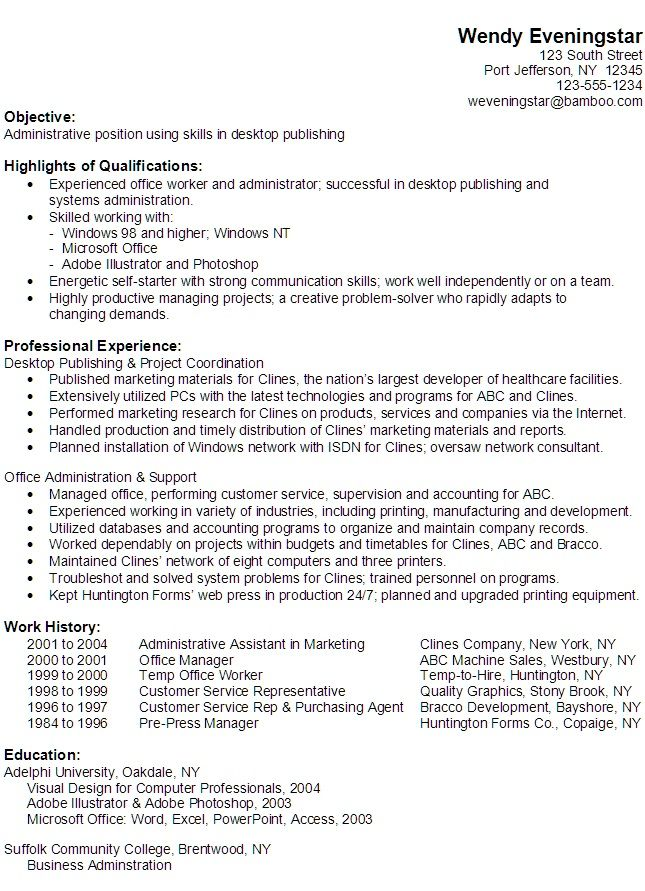 functional resume example for lab assistant