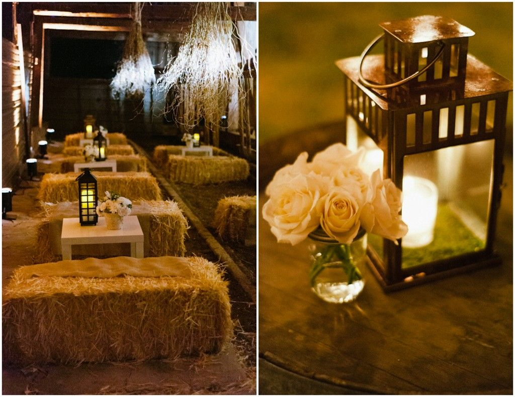 lanterns for weddings Elegant Wedding in a Barn