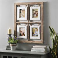 Natural Hanging Window Pane Collage Frame | Whimsical ...