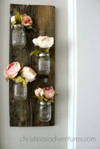 DIY wood mason jar holder | Mason jar flowers, Clamp and Jar