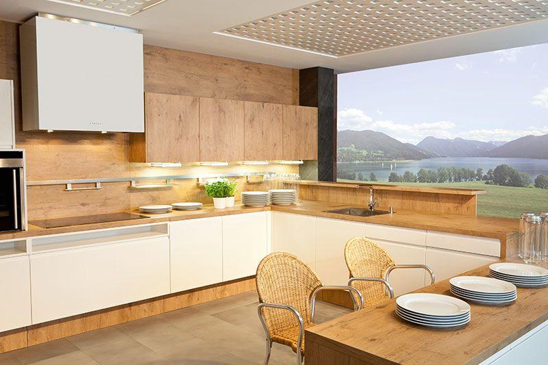 Küchen teleskopregal ~ Holz in kuche und bad designde.paasprovider.com