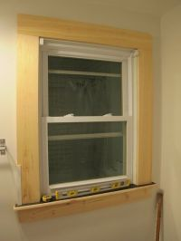 Window trim, installed (but unpainted). | Design and Decor ...