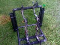 Outdoor bow and arrow holder made out of pvc   Hunting ...