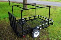 Here is a Lowes Utility Trailer with a DIY No Weld trailer ...