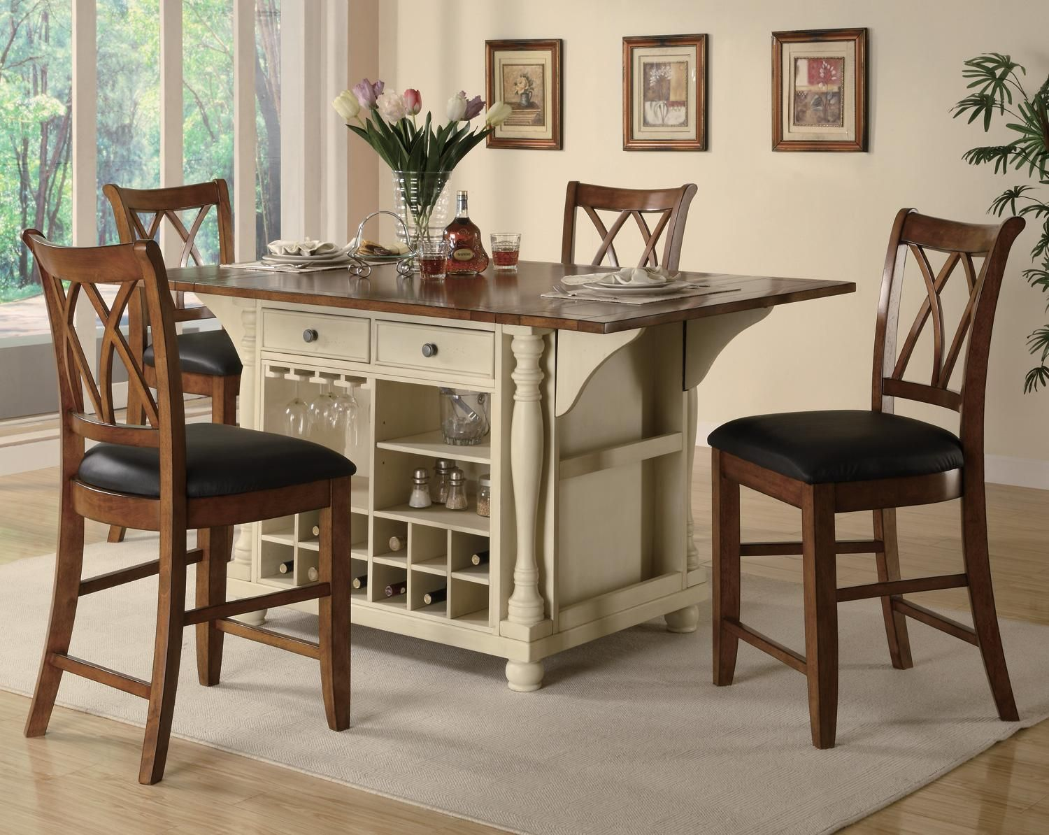 Tall kitchen table and chairs dinette sets kitchen table and furniture counter height stools funiture image
