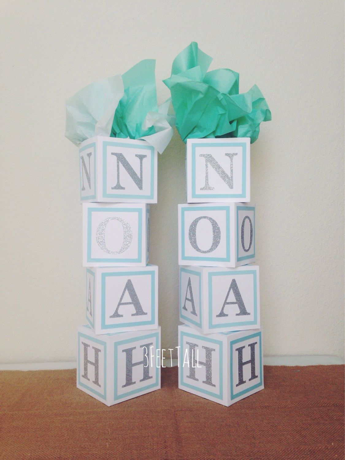 Deco Block Ideas Baby Shower Centerpiece Alphabet Block Centerpiece By