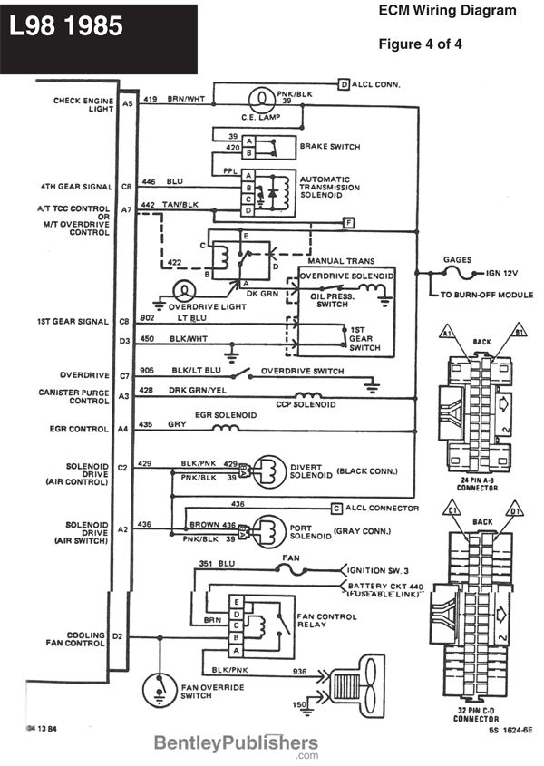 1974 corvette headlight wiring diagram