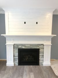 Our Craftsman style Fireplace with shiplap mantel # ...