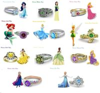 925 Sterling Silver Multicolor CZ Disney Princess ...