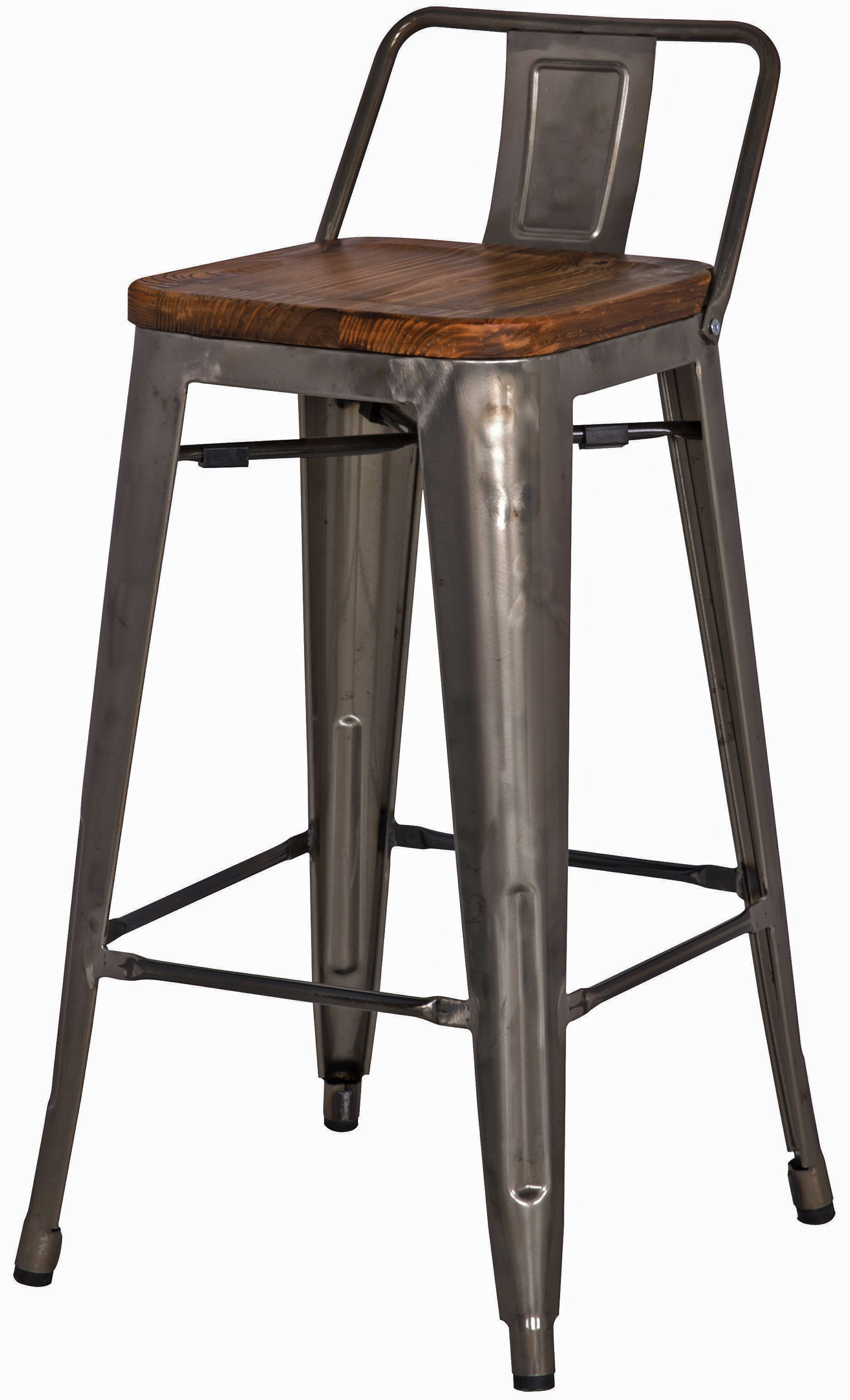 Industrial Bar Stools With Backs Metropolis Low Back Counter Stool Wood Seat Gunmetal