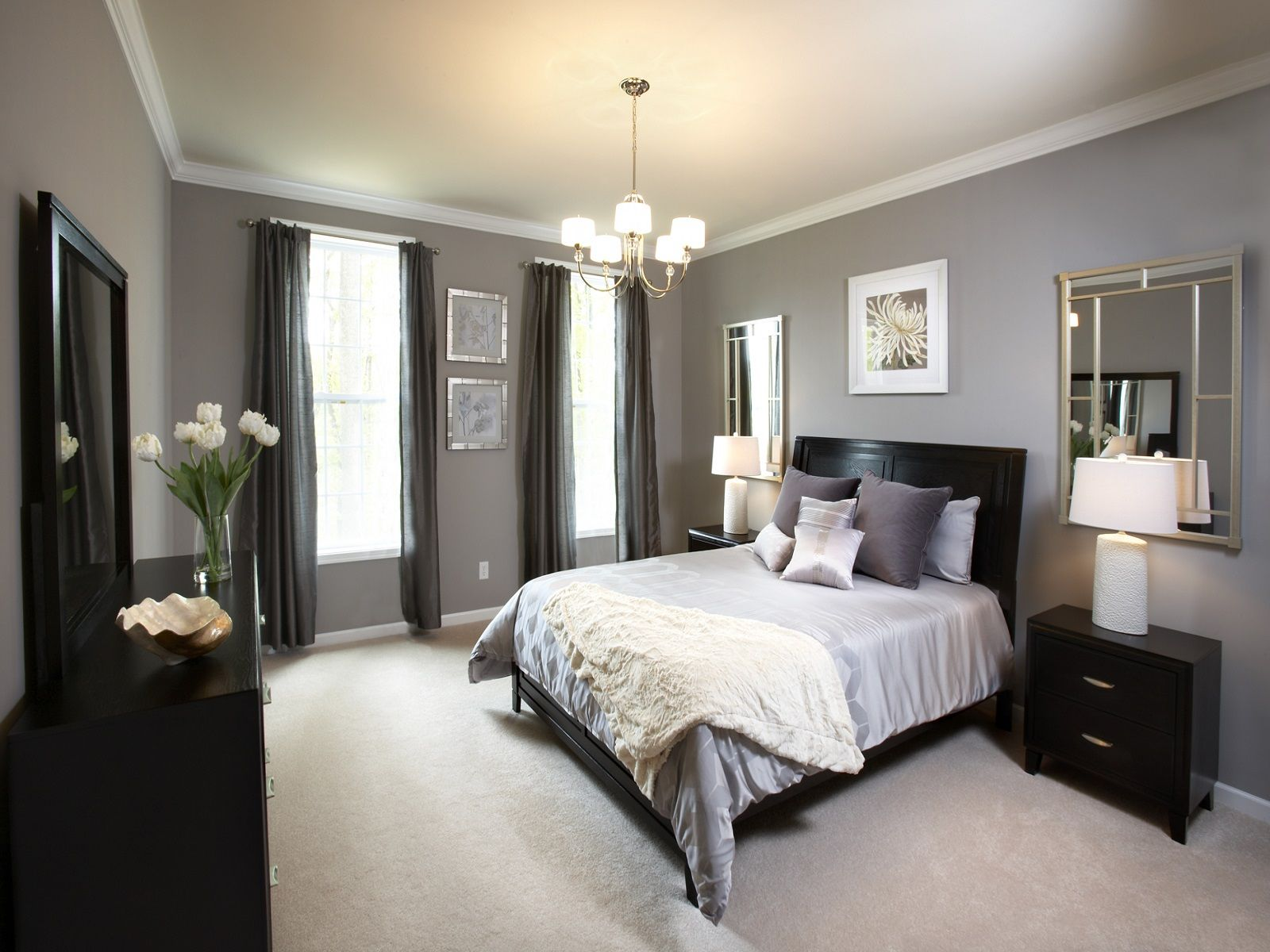 Bedroom paint color ideas for master bedroom buffet with mirror pendant light