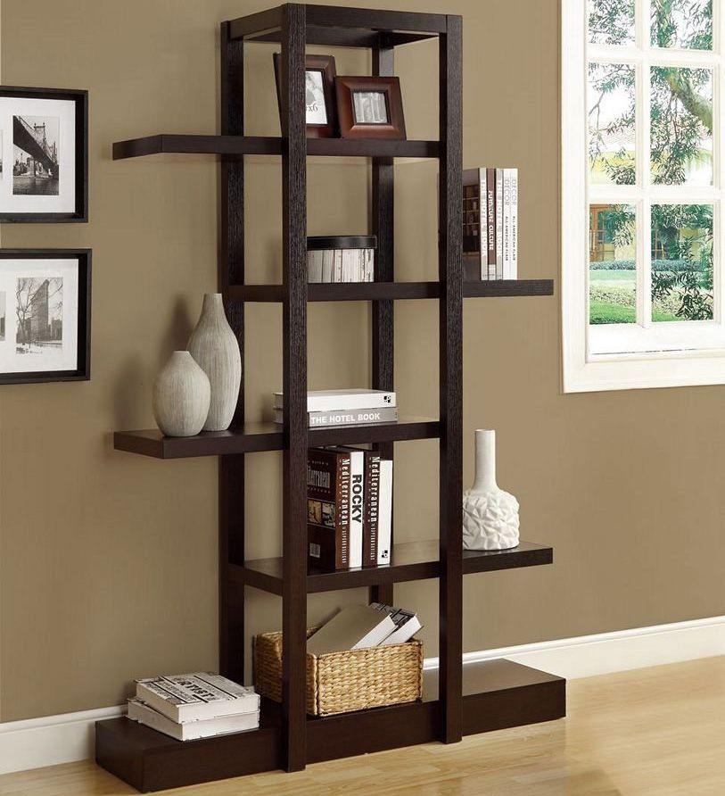 Living Room Etagere - Books, vases, and other decorative items - living room shelves