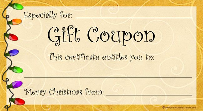 Need A Last Minute Christmas Gift? Free, printable Christmas gift - christmas gift certificates templates