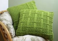 KNITTING PATTERN 003 Square Lattice Pattern CUSHION COVERS