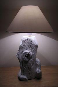 Driftwood Table Lamp, Light, Art, Sculpture, Nautical ...