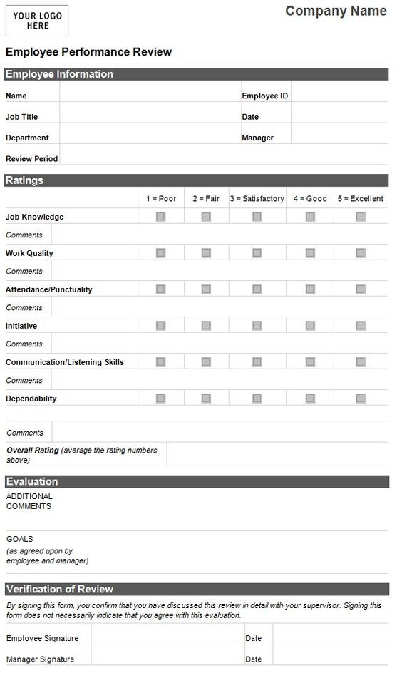 Employee Evaluation Template Employee Performance Evaluation - job performance evaluation form templates
