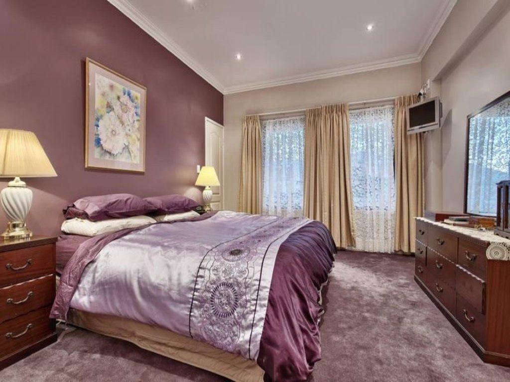 Accent Walls Paint Ideas Purple Accent Wall Grey And Purple Bedroom Paint Ideas