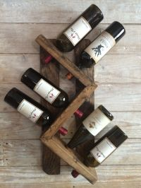 Wine rack-wall mounted wine rack-rustic vintage wine rack ...