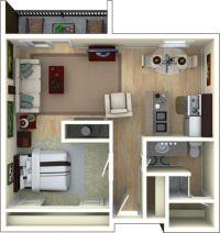 Unique Studio Apartment Floor Plans Furniture Layout On ...