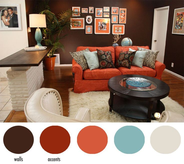 accent colors for brownlovable walker family living room after i - red and brown living room