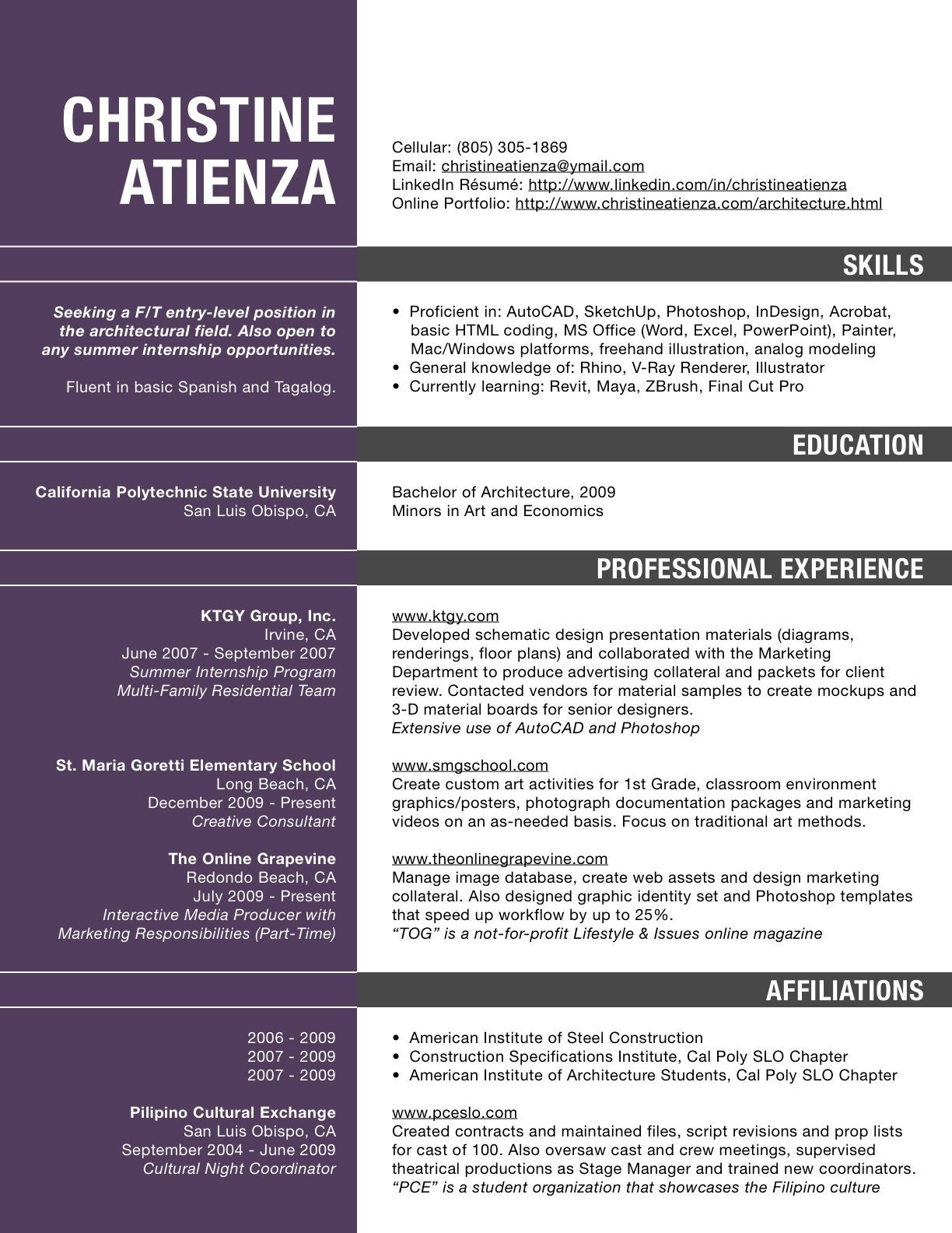 resume describing skills examples