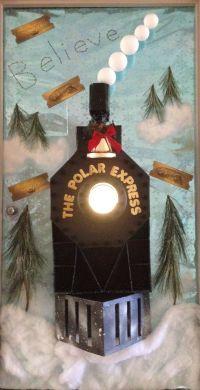 Polar Express decorated door | Christmas | Pinterest ...