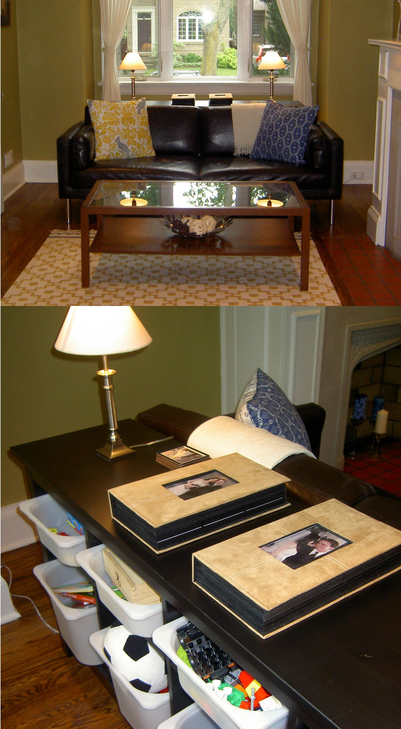 Center Tables With Storage Toy Storage Hidden Behind Sofa Using The Ikea Hemnes