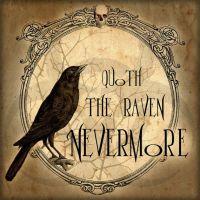 Halloween Decoration Ideas: Edgar Allan Poe Wall Art