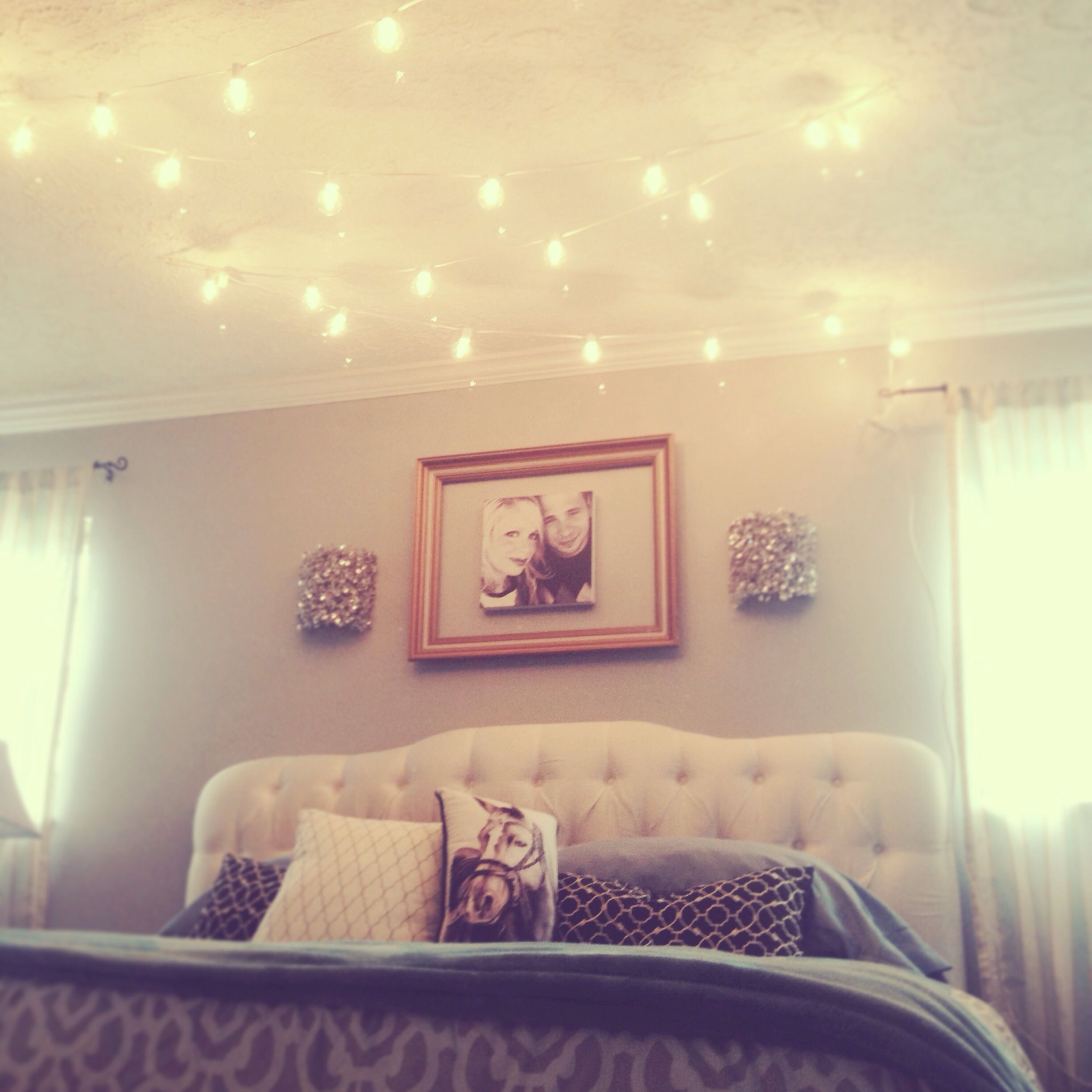 Over Bed Lights Break All The Rules And Hang Globe String Lights Above The