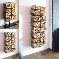modern indoor firewood holder ideas wall mounted firewood ...