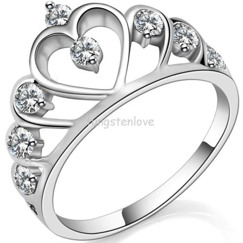 crown wedding rings Silver Promise Rings For Women Crown Wedding Ring Promotion Online