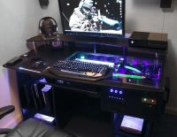 custom gaming computer desk | Personal Space | Pinterest ...