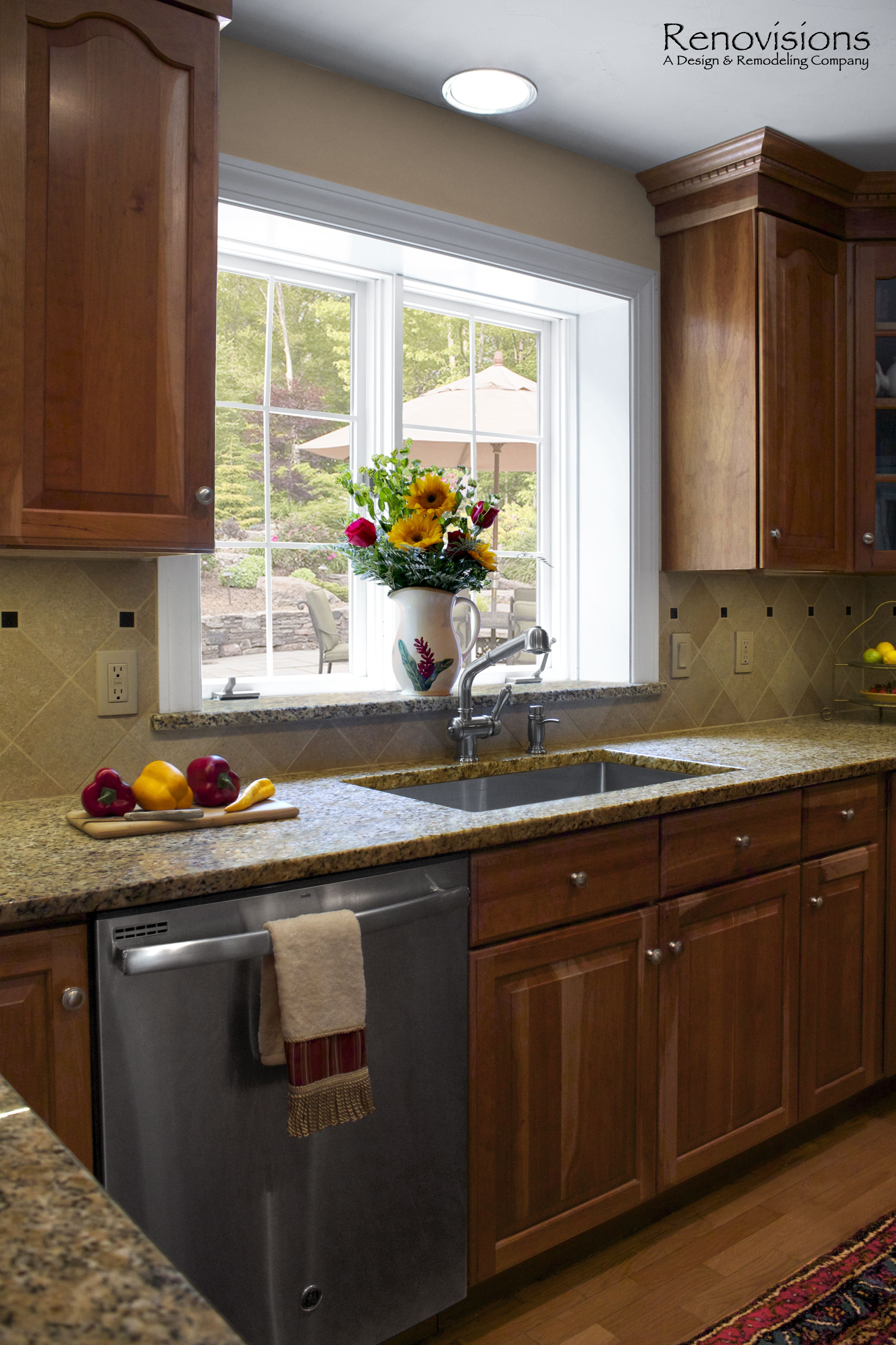 Stainless Steel Cabinets And Countertops Kitchen Remodel By Renovisions Decorative Tan And Black