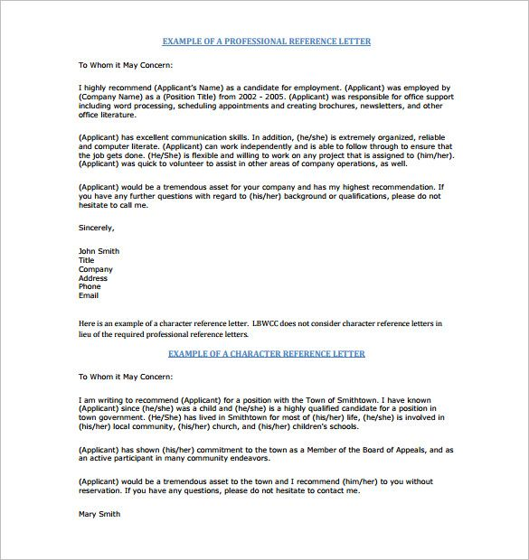 character reference letter sample, example of character reference - certificate of recommendation sample