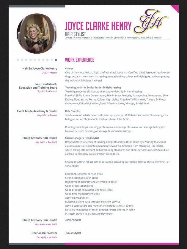 Professional Hair Stylist Resume - http\/\/jobresumesample\/1234 - salon resume